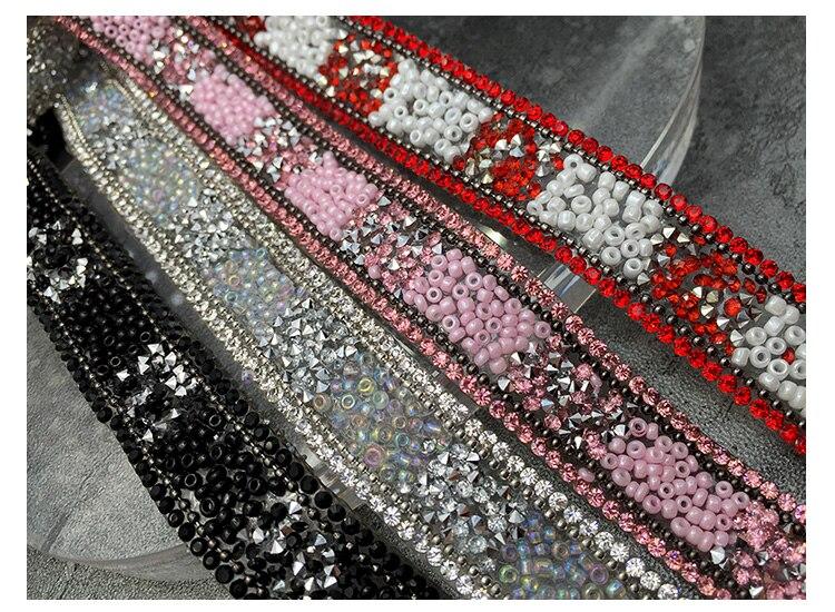 Peal-parches de encaje con diamantes de imitación, parches de encaje para planchar, adornos decorativos para ropa, apliques y cristales