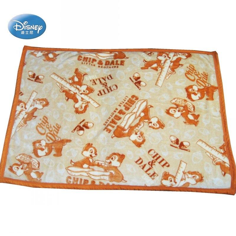 Disney cartoon macio flanela brown chip & dale tamanho pequeno cobertor lance 70x100cm para crianças cão gato na cama/sofá/berço/avião