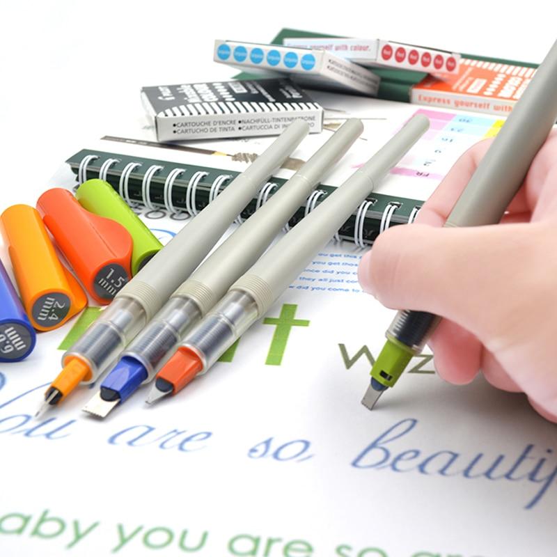 Pilot Parallel Kalligraphie Stifte Brunnen Pen-Set Schreibwaren Arabisch Gothic Design Farbige Stifte Tinte Refill Patrone Für Kunst Stift