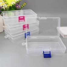صندوق تخزين من البلاستيك الشفاف للمجوهرات الصغيرة صندوق أدوات حبة حبوب منظم شبكة كبيرة شفافة علبة تزيين الأظافر