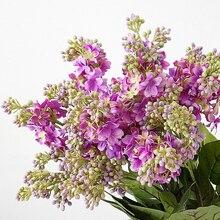 Fleurs artificielles de Lilac en soie   Fleurs à tenir pour mariage, décoration de fête pour la maison, matériel de fleur bricolage bon marché, Arrangement