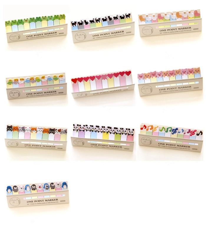 Mini DIY Kawaii lindo de dibujos animados de animales Memo pad gato Panda música nota de papel pegatinas coreanas de escritorio envío gratis