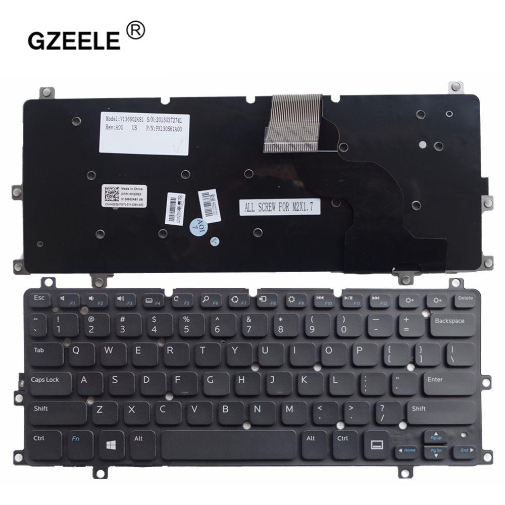 GZEELE لديل XPS 10 10Z XPS 10z XPS10 XPS10Z دون الخلفية الولايات المتحدة أسود جديد الإنجليزية استبدال لوحة مفاتيح الكمبيوتر المحمول لوحة مفاتيح الكمبيوتر ال...