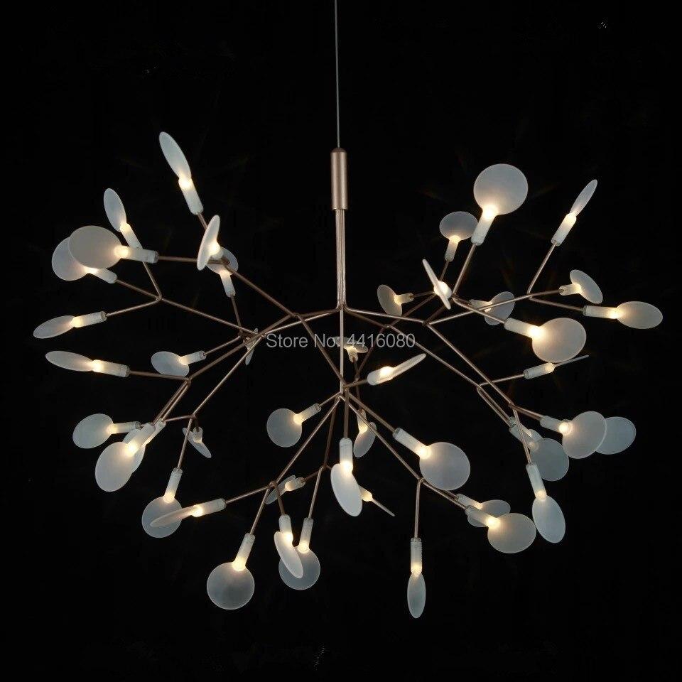 Lámpara colgante clásica Heracleum II, luces LED clásicas de hoja de árbol de Bertjan Pot de Mooi, lámpara colgante de iluminación max D210cm SRY