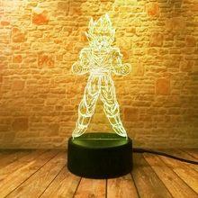 3D Illusion LED NightLight Luminous Colorful Touch Flash Light Anime Figuras Dragon Ball Z Super Goku Figure Toys Holiday gift