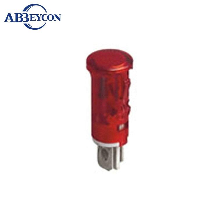 ZS105 9.5mm 220 v mini interruptor indicador, lâmpada indicadora de sinal luzes estroboscópicas luz de alarme de incêndio