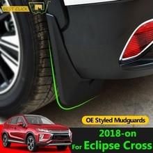 Set Molded Mud Flaps For Mitsubishi Eclipse Cross 2018 -on Mudflaps Splash Guards Flap Mudguards Fender Front Rear 2019 2020