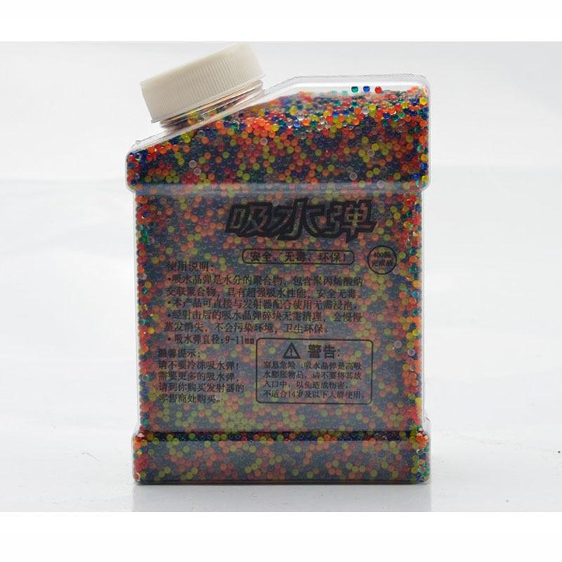 Pistola de agua bala 20000 unids/caja bolas de agua juguete de agua varios colores de agua suave bala de Paintball de agua