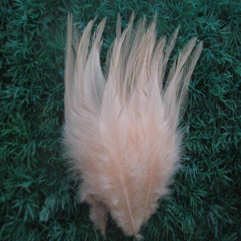 20 Uds./lote de plumas de gallo rosa claro de 10-15 cm accesorios decorativos de plumas de escenario