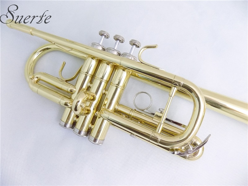 C Flat Trumpet with case and mouthpiece yellow Brass musical instruments trumpets enlarge