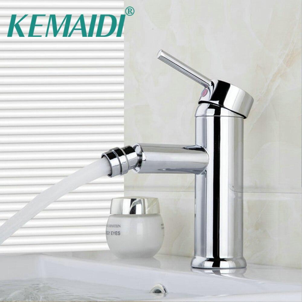 KEMAIDI-صنبور حوض الحمام بيديت ، خلاط حوض كروم torneira ، بالوعة
