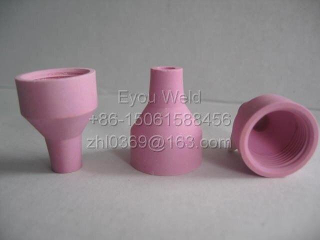 10 шт. 14N57 4 # сопло для сварочной горелки WP10 WP12-глинозем керамические расходные материалы для дуговой сварки WP-10 WP-12