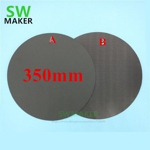 Redondo 350mm impresión magnética cama cinta impresa placa de construcción placa flexible placa actualización para tevo pequeño monstruo 3D impresora