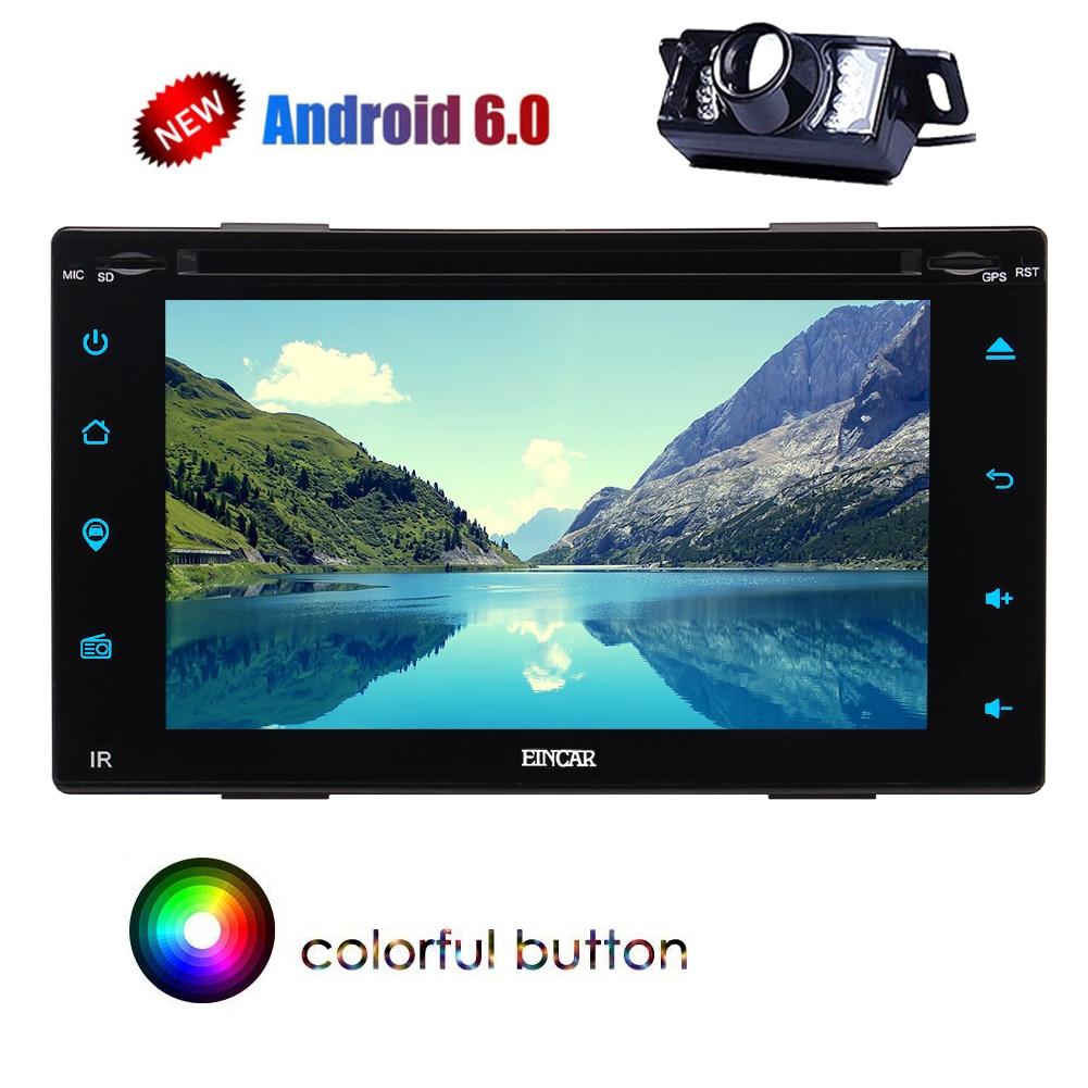 "Android 6,0 GPS estéreo Bluetooth Radio de coche 6,2 ""Pantalla táctil CD reproductor de DVD enlace espejo USB SD doble Din 3g/4g WIFI SWC CAM"