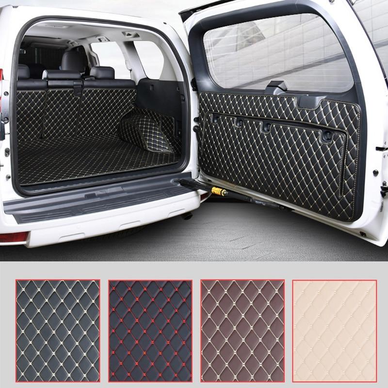 Alfombrilla de suelo para maletero trasero de coche, alfombras duraderas para maletero para Toyota Land Cruiser Prado 150 2010 2011 2012 2014 2014 2015 2016 2017 2018