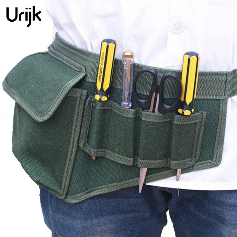 Urijk herramientas eléctricas bolsas cinturón ajustable herramientas bolsillos construcción paquetes bolsa de lona más gruesa sin herramienta