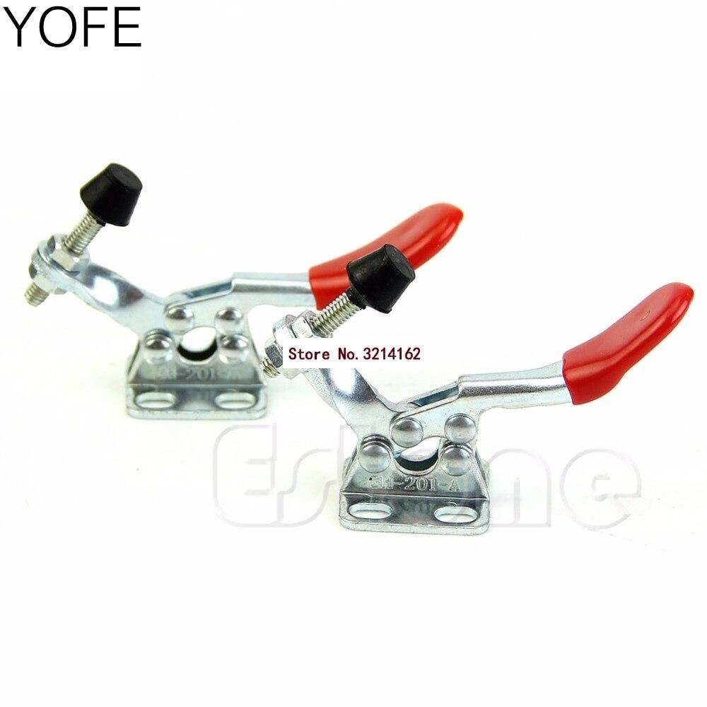 YOFE 2Pcs  Toggle Clamp GH201A 201A Horizontal Clamp Hand Tool Nice Gifts 07NOV