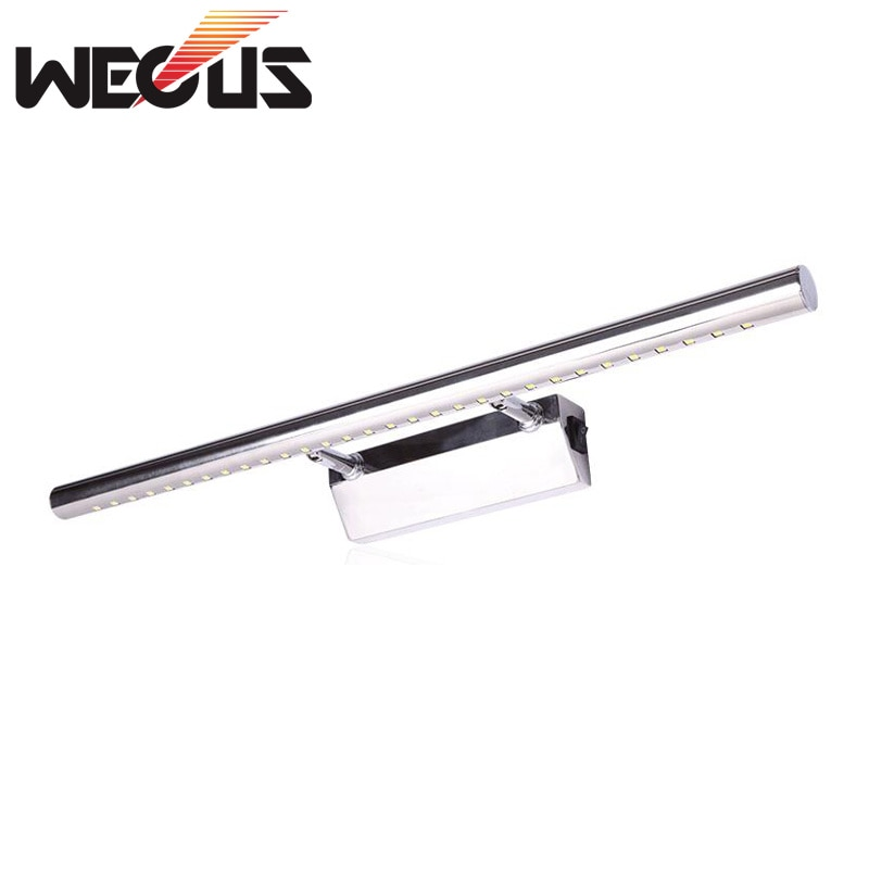 Candelabro para pared de 550mm/400mm, 7W, lámpara cosmética para sala de luz led para espejo de baño, candelabro para escritorio, piano con interruptor