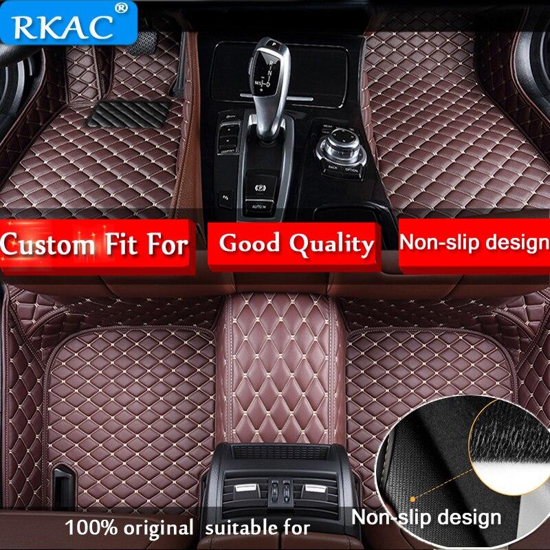 RKAC Custom car floor mat for BMW Toyota peugeot Mitsubishi Mazda HONDA Hyundai nissan Skoda Subaru car-styling auto sticke