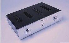 Boîtier amplificateur bricolage 430*75*320mm QJ-4375 châssis amplificateur de puissance en aluminium/châssis pré-amplificateur/boîtier AMP boîtier boîtier boîtier bricolage