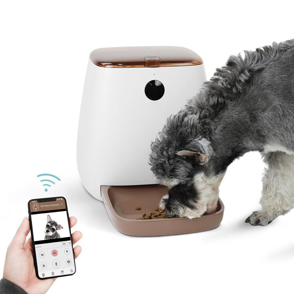 Alimentador automático de mascotas de 3,3 L, Control por voz del teléfono Wifi, cámara HD de 1080P, alimentación automática, medida precisa, alimentador de comida para gatos