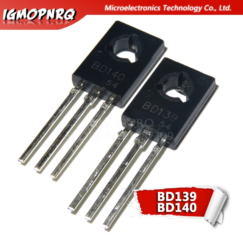 20PCS BD139 BD140 ( 10PCS BD139 + 10PCS BD140 ) TO126 TO-126 new voltage regulator IC