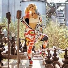 Hot New Women Jumpsuits Playsuits Bodysuits Hooded Hip Hop Dance Harem Pants Trousers Women Cartoon Hipster Jumpsuits