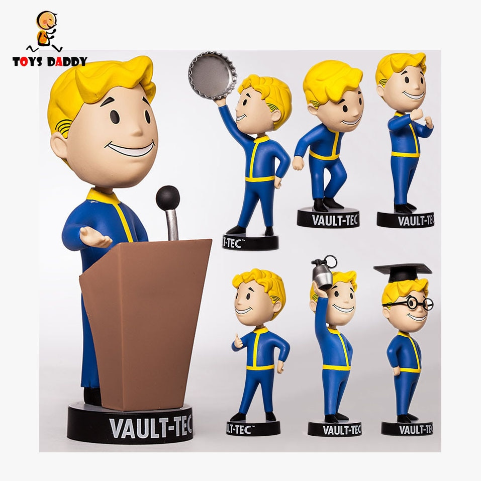 15 cm cm Fallout 4 Q versionshaking head PVC Action Figure explosives charisma intelligence speech barter Model Toys Kids Gift