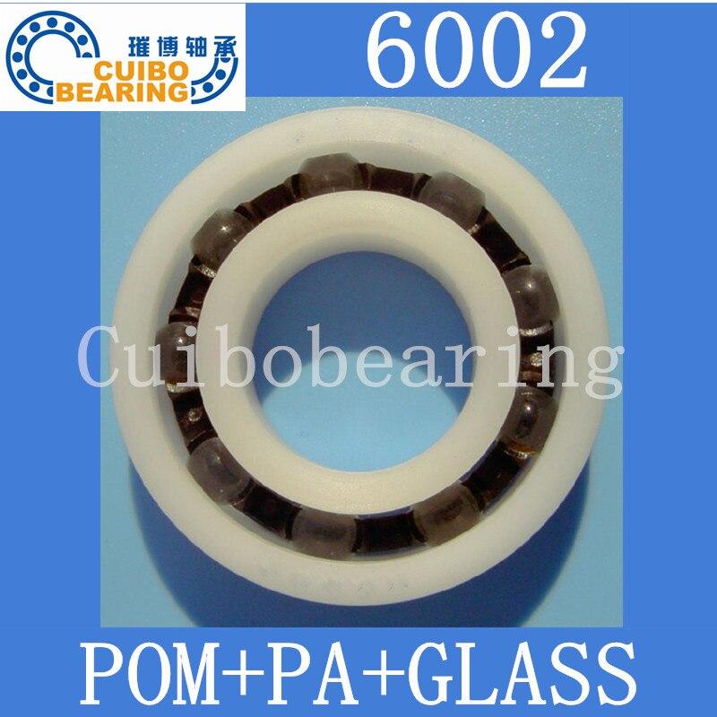 نوعية جيدة 10 قطعة 6002 بوم البلاستيك محامل PA كرات من الزجاج الحجم: 15x32x9mm