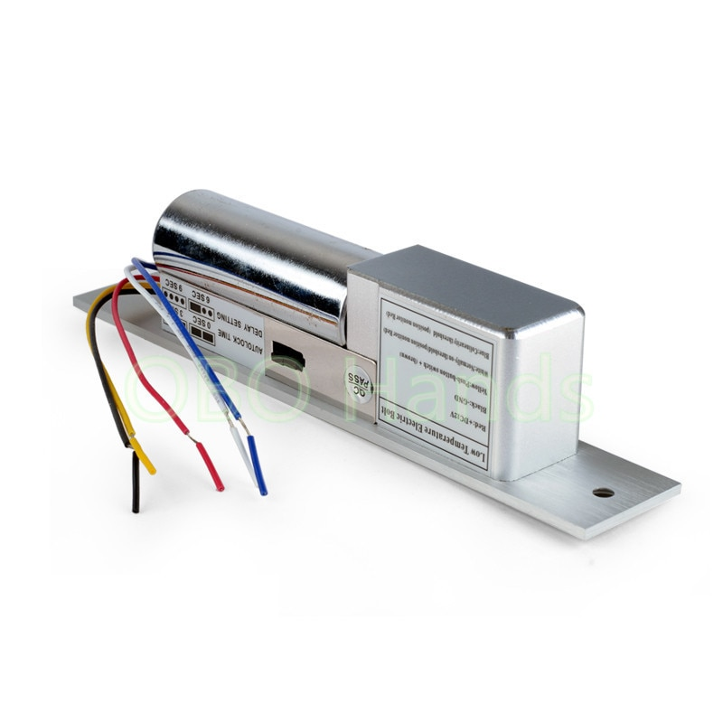 5 linia niska temperatura z opóźnieniem elektroniczne śruby spadek blokada drzwi blokada dla systemu kontroli dostępu DC12V zamek elektryczny do drzwi