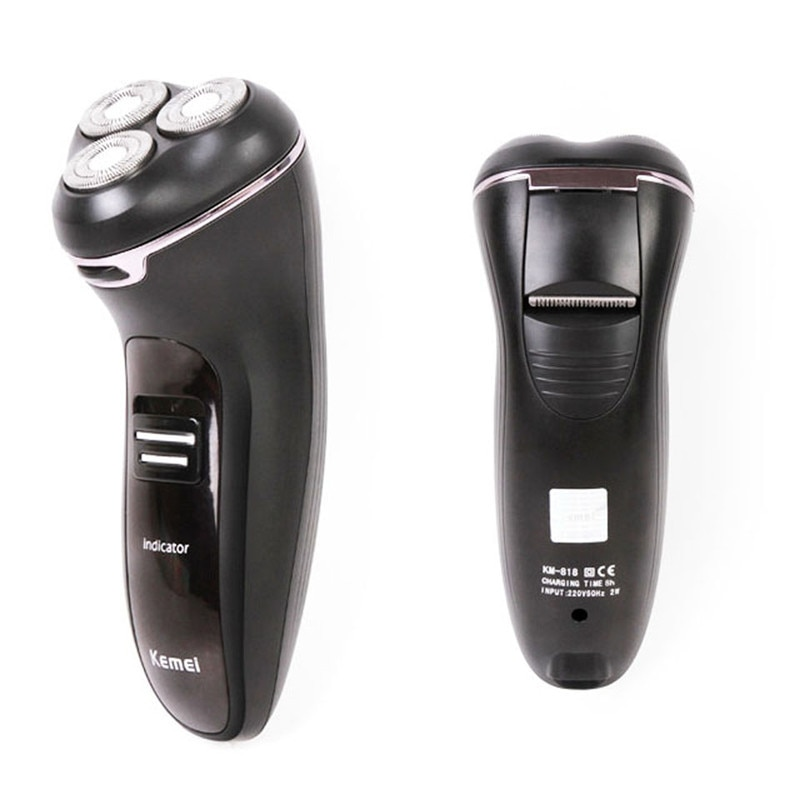 Kemei Electric Shaver rotary tool Quick Charge epilator hair removal rechargeable electric razor Floating Heads enlarge