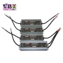 Étanche Ultra-mince 45W/60W/100W/150W/200W/250W/300W led pilote alimentation LED alimentation extérieure AC110V 220V à DC12V 24V transformateur