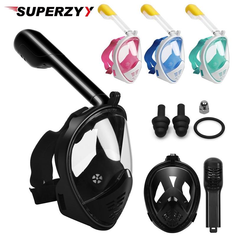 2018 дешевая маска для дайвинга, маска для подводного плавания, анти-туман, маска для подводного плавания с полным лицом, для женщин и мужчин, д...