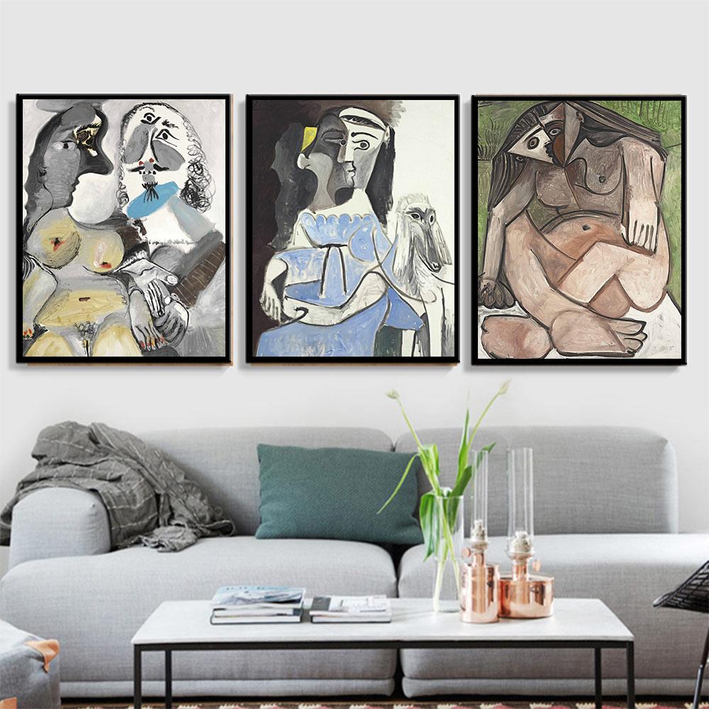 Pop Escandinavo Nórdico Cartazes e Impressões Artista Picasso Famosa Pintura A Óleo sobre Tela Pintura A Óleo Da Arte Da Lona para a Decoração Home
