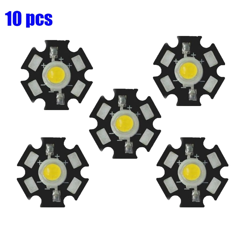 10 unids/lote 1W 3W LED disipador de calor placa Base de aluminio placa PCB sustrato 20mm DIY Piezas de LED para LED linterna bombilla foco LED