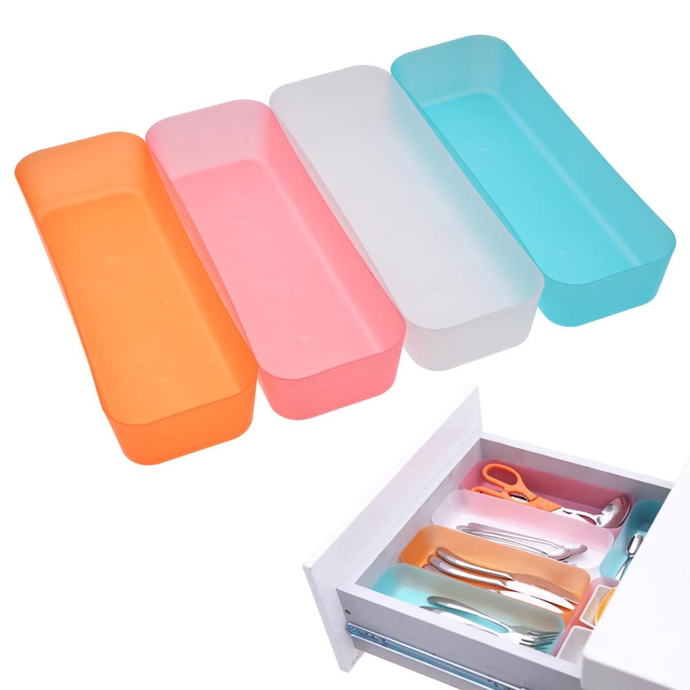 TSSAAG 3 tamaños cajón ajustable organizador Caja de almacenaje para maquillaje joyería divisor para DIY hogar cocina utensilios transparentes nueva llegada
