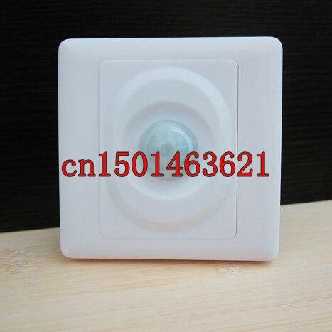 1 Uds. Interruptor de Sensor de luz de pared infrarroja de cuerpo AC110V-250V interruptor de autoiluminación ajustable PIR Detector para lámparas LED ahorradoras de energía