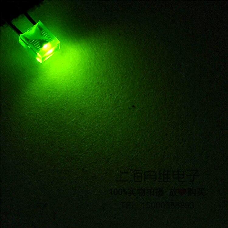 100 stücke 2x3x4 Grüne led licht emittierende diode super bright Diffused wasser klar