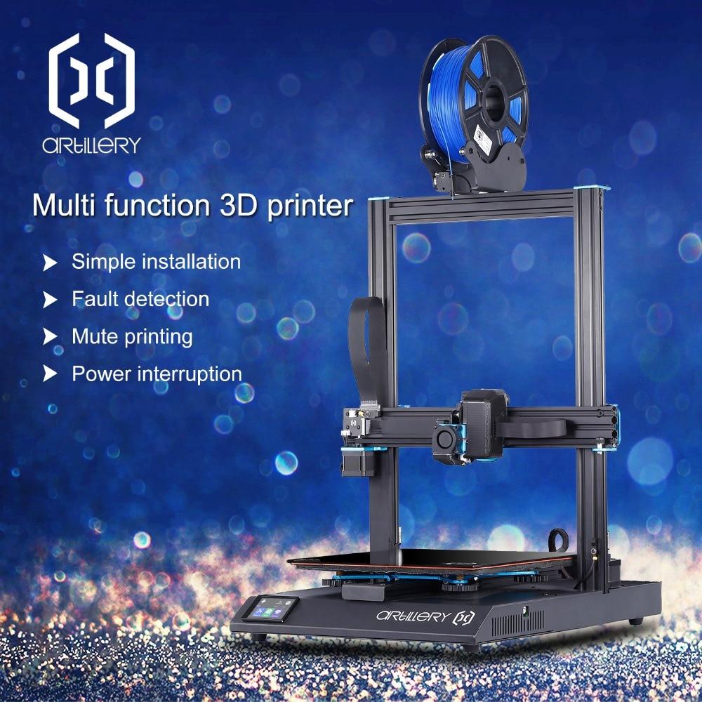 2019 новейший 3d принтер Sidewinder X1 ультра-тихий драйвер TFT сенсорный экран двойной оси Z Набор для повторной печати 3d принтера