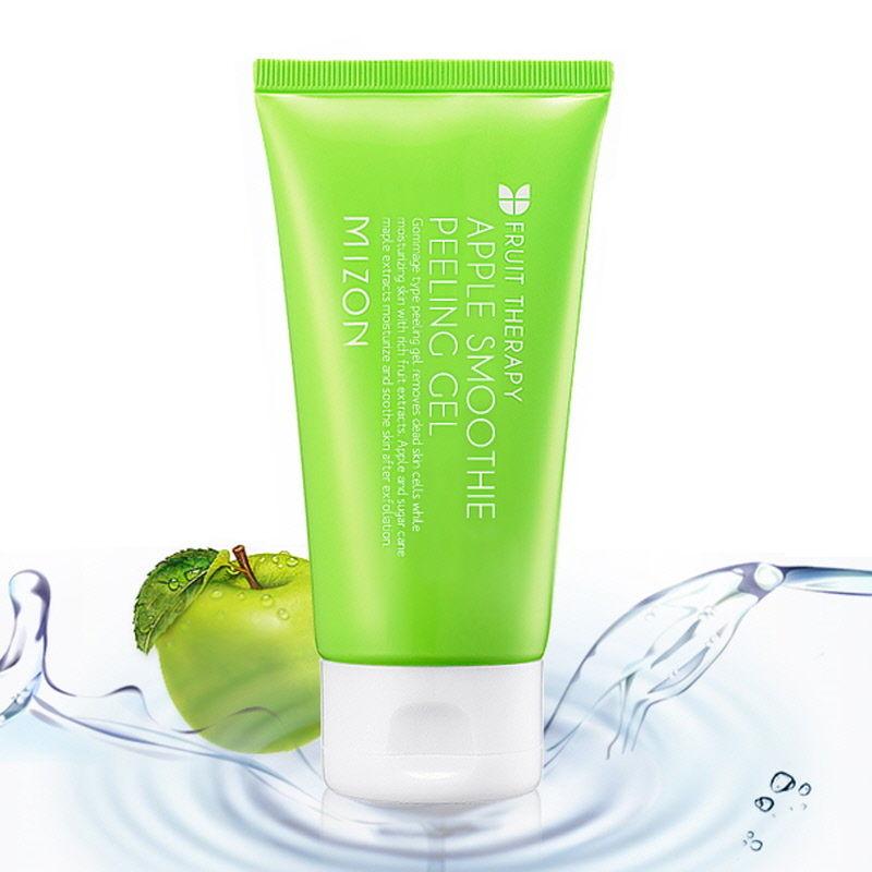 MIZON Apple Smoothie Peeling Gel 120ml Facial Cleanser Natural Facial Exfoliating Whitening Brightening face Exfoliator Peeling