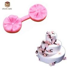 Cherry Blossoms Cake Silicone mould Mini Flower Fondant Mold Cupcake Soap Mold Sugarcraft Paste Baking Mould 1 pc