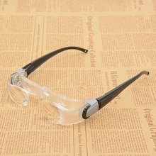 Hipermetropia Óculos 2.1x Presbiopia Portátil 300 Graus ajustável 3 Dioptria Óptica Lupa Vidro Para Assistir TV