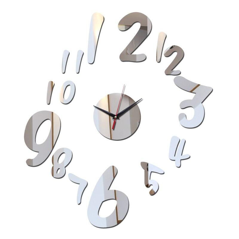 2019 venda superior acrílico espelho adesivos relógios de parede decoração da casa bonito sofá fundo sala estar adesivo