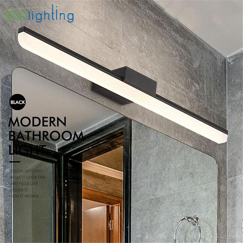 Noir cosmétique miroir lampe LED européenne maquillage lumière vanité salle de bain appliques murales L40cm L50cm L60cm L70cm armoire éclairage décor