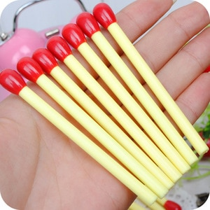 QSHOIC 50pcs/lot Match pen cute ball point pen wholesale Korea creative stationery primary school products Match pens stationery
