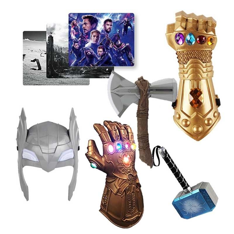 Marvel brinquedos os vingadores figura super-herói thor martelo máscara hatchet mouse pad figura de ação collectible modelo boneca