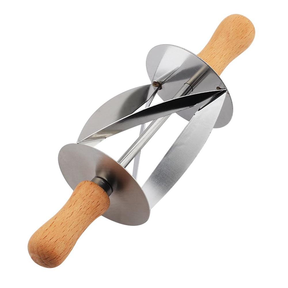 Cortador de pão croissant de aço inoxidável, suprimentos de cozinha, cortador de massa, rolo de pastelaria