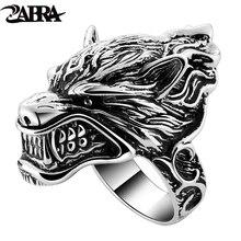 Однотонные мужские байкерские кольца с 925 пробы серебряным волком, игра в трон, дом Старка Винтерфелла, диревольфа, винтажные готические кольца в стиле панк-рок