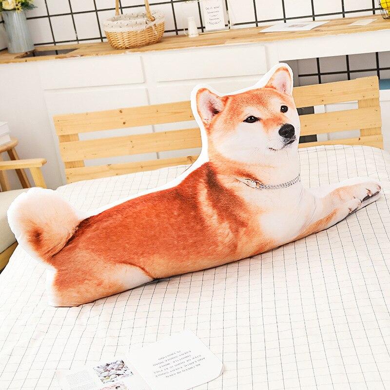 Simular un gato encantador, perro, almohada de perro, cojín, reposacabezas, respaldo, almohada de cama de juguete de felpa grande
