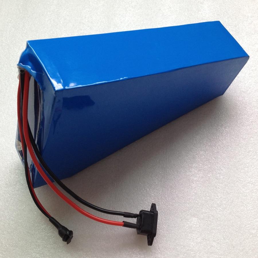Batería triangular de bicicleta eléctrica de estilo Popular 36 v 24ah batería de iones de litio con cargador 30A BMS